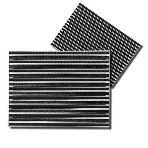 SWmat ® Felpudo con cepillo/textil para empotrar en el suelo, aluminio de alta calidad, para interior y exterior, felpudo de entrada con marco de aluminio, 60 x 80 cm