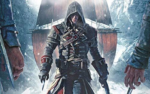 XHJY Adultos Y Niños Rompecabezas 500 Piezas, Rompecabezas Juego De Bricolaje Desafío Cerebral Juego De Rompecabezas, 52Cm X 38Cm,Assassin'S Creed Rogue