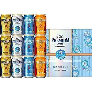 【遅れてごめんね/父の日 ビールギフト】 ザ・プレミアム・モルツ 醸造家の贈り物 夏仕立て入 輝 4種アソートセット VA3S