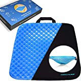 Gel Sitter Seat Cushion Breathable Egg Crate Honeycomb Design, Portable Seat Cushion
