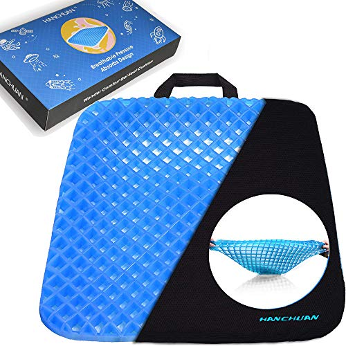 SutMsh Memory Foam Seat Cushion, Pillow for Sitting, Comfort Seat Cushion for Office Computer Chair, Car, Wheelchair, Improves Posture, Non-Slip Bottom