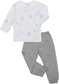 Baa Baa Sheepz Pyjamas Set, White/grey, 0-6M