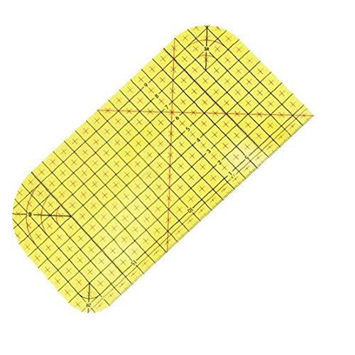 Berrywho Caliente Planchado Regla de medición, Resistente Remiendo de Control de la Regla de Alta Temperatura para seco o Planchado al Vapor Suministros de Coser 20 * 10cm