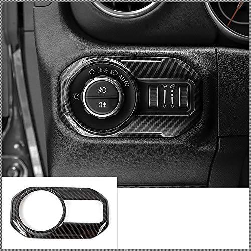 D28JD Interior del Coche, Interruptor de la Linterna del Coche de la decoración del Ajuste Adecuado para Jeep Wrangler JL 2018 ABS Fibra de Carbono