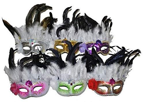 Fiesta Palace - masque loup avec plumes