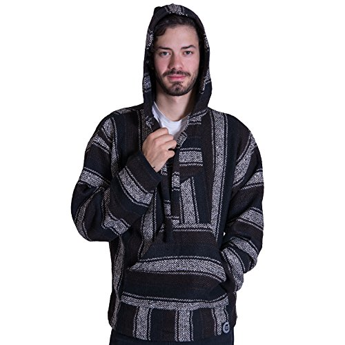 Orizaba Original Baja Hoodie Drug Rug - Brown Black White Classic - Asuncion S