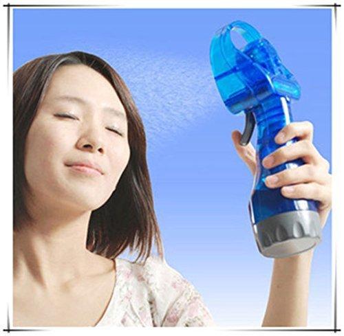 SkyFlag Plastic Portable Handheld Mini Ice Water Misting Sprayer Fan (Multicolour, Standard Size)
