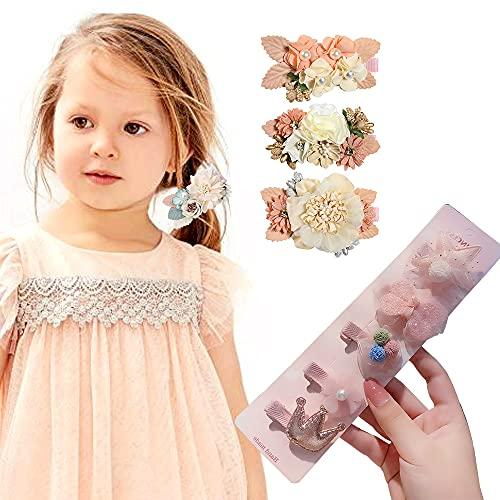 Kaimeilai 8 clips de pelo para niños, juego de pinzas para el pelo, accesorios para el cabello para niñas y niños, para cumpleaños, Navidad, regalo para el día del niño