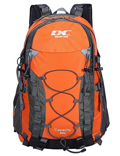 Wasserdichter Rucksack 40L Leicht – Diamond Candy Erwachsene Wanderrucksack Herren Damen Outdoorrucksack für Wandern Trekking Klettern Camping Reiten Reisen Freizeit, mit Regenschutz, für 16