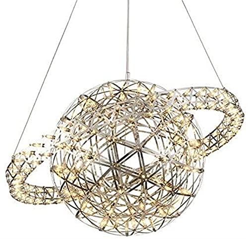 Archivo de iluminación de araña Nordic Crystal Chandelier Creative Personalidad Arte Escalera Restaurante Café Tienda de ropa Diseñador Iluminación Starry Moderno Spherical Techo Colgante Luz DIRIGIÓ