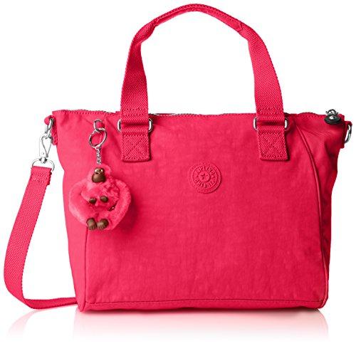 Kipling Amiel, Damen Schultertasche , pink, Einheitsgröße