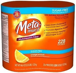 Metamucil Smooth Texture Orange 228 doeses sugar free