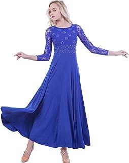 Prom Ballroom Dance Dress - Dancing Waltz Tango Party Latin Swing Dancewear Skirt Dress for Women