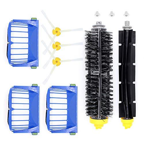 Subtop Kit de Reemplazo para iRobot Roomba Serie 600 Repuestos de Accesorios para iRobot Roomba 600 610 614 620 625 630 635 640 645 650 655 660 665 670 680 690 Aspiradoras