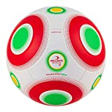 Millenti Knuckle-It Pro Soccer Ball - Match Ball with Exclusive VPM (Valve Position Marker) Technology (White Red, 5)