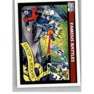 1990 Impel Marvel Universe #117 X-Factor vs. Apocalypse Non Sport Entertainment Trading Card in Raw (NM or Better) Condition