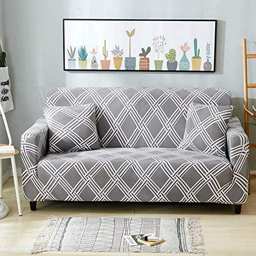 Funda de sofá gris Fundas de muebles elásticas Fundas de sofá elásticas para sala de estar Funda de asiento con funda deslizante funda de asiento de spandex sofá de 1-4 plazas, color 17,4-plazas (235