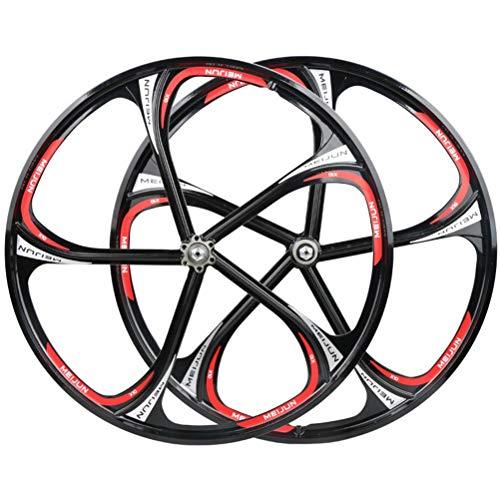 CHICTI 26 Zoll Fahrradfelgen Magnesiumlegierung Felge Scheibenbremse Fahrradradsatz 8-10 Geschwindigkeit QR Abgedichtetes Lager Kassettennaben