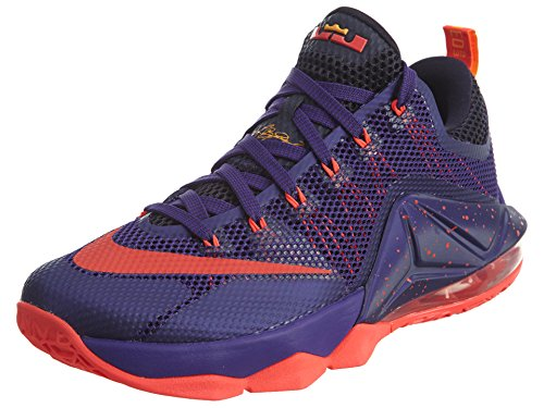 Nike Mens Lebron XII Low Court Purple/Bright Crimson Synthetic Size 9.5