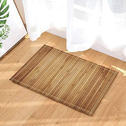 ZHOU Hölzerner dekorativer hölzerner Plankenboden Teppiche rutschfeste Boden Kind Eingänge Outdoor Indoor Haustür Matte Badzubehör 80x40cm