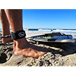 """Ho Stevie! Premium Surf Leash [1 Year Warranty] Maximum Strength, Lightweight, Kink-Free, for All Types of Surfboards… 9 💪 MAXIMUM STRENGTH surfboard leash won't snap and leave you stranded! Designed and tested in California... we surf every day, and we designed our leashes to withstand rigorous use. 100% Money-Back Guarantee, and 1 Year Warranty. 🏄♂️ Available in 6 feet, 7 feet, 8 feet, or 9 feet sizes. We recommend choosing a leash length similar to the length of your surfboard. PERFECT FOR ANY SIZE BOARD - shortboards, longboards, funboards, fishes, or SUPs. 🔑 SUPER COMFORTABLE High Density Neoprene padded 1.5"""" ankle cuff won't slide around on your ankle. Store your key in the SECURE KEY POCKET in the cuff."""