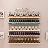 Estantes montados en la pared, estantes metálicos para almacenamiento de...