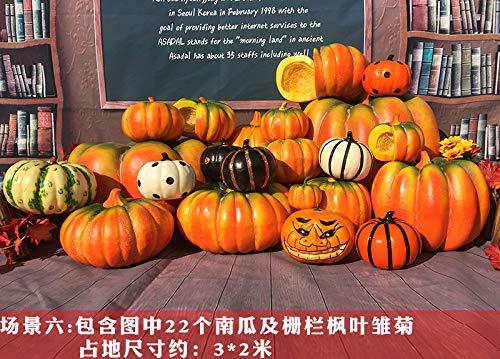 Halloween citrouille décoration légère bulle citrouille décoration Mall Mall jardin d'enfants Bar Sourire citrouille Props zone 3 * 2 m scène six