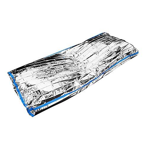 HWCP.CP Couverture Réfléchissante Pliage Sac De Couchage D'isolation d'urgence Portable Extérieur Étanche Taille du Produit 200 X 100Cm Cm (5 Paquets)