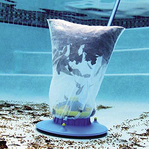 Kansang Aspirador de piscina, aspirador de hojas de piscina, práctico cabezal de succión para limpieza rápida, cerdas y arco giratorio, color azul