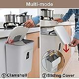 Mülleimer Küchen-Abfalleimer aufhängbaren Küchenmülleimer mit Deckel Abfallbehälter Mülleimer für die Tür unter der Spüle Mülleimer Mülltrennung 9L - 2