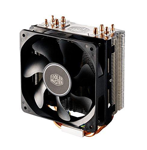 Cooler Master Hyper 212X Dissipatore d'Aria Sistema di Raffreddamento – Heat Sinks Ottimizzate - 4 Tubi di Calore a Contatto Diretto Continuo, Ventola Durevole Pom Bearing, Nero, 120 mm