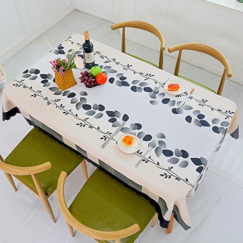 WHDJ Waterproof Tablecloths Plaid & Floral Pattern,Anti-Greasy Durable Soft Table Cloth Anti-Scalding Soft Table Cover for Home & Restaurant