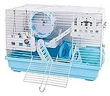 HLZY Cage portative de gerbilles pour Petits Animaux Hamster Cage Hamster Maison métal Hamster for Les Souris et gerbilles Basic Cage Cage Pet Voyage Portable Set