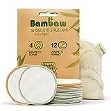 Dischetti struccanti lavabili in bambù | 16 dischetti...