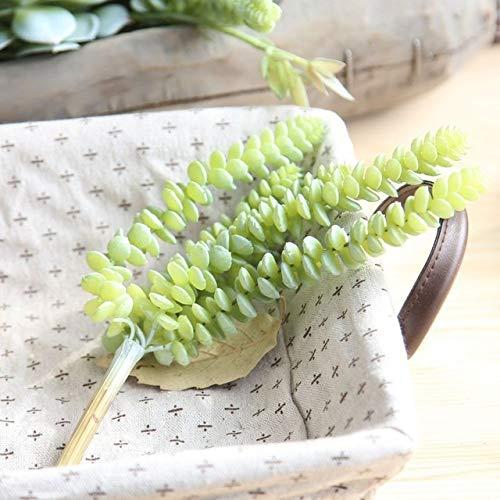 ADSIKOOJF 6 Hoofden Kunstmatige Vetplanten Levendige Planten voor Tuin Bonsai Desktop Planten Bruiloft Decoratie Plant Thuis kantoor Decoratie 1 st