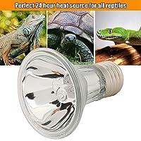 フルスペクトルバスキングランプ、爬虫類トカゲ水カメスパイダーカエル用24時間熱源ハロゲン電球(75w)