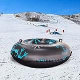Happt Tubo de Nieve Inflable Trineo de Nieve Grande Resistente a la congelación Resistente con Asas para la diversión al Aire Libre en Invierno Valuable