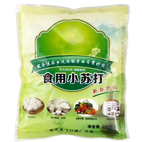 Healthy Food,1 Bag 250g Food Grade Edible Baking Soda Multi-Purpose Sodium Bicarbonate Powder for Biscuit Bread Cake Making Cleaning Tool Kitchen Supplies
