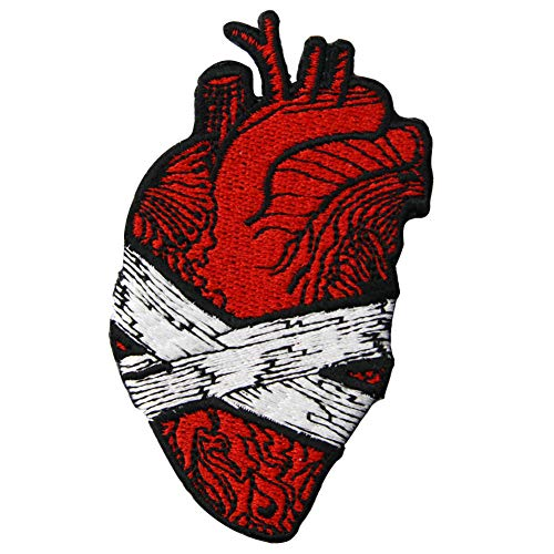 Save My Heart Patch Embroidered Applique Badge Iron On Sew On Emblem