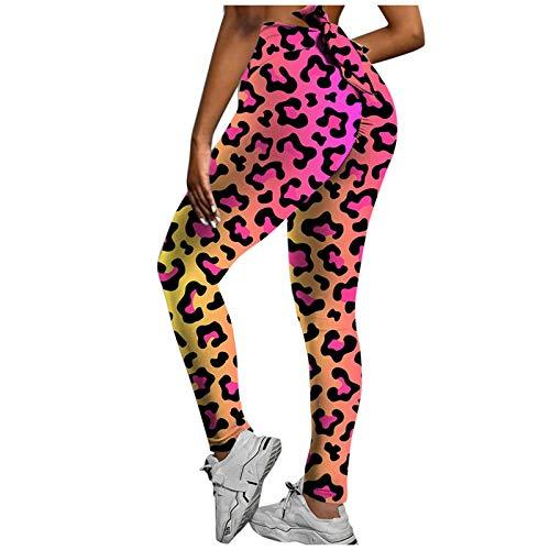 JQq Damen Jogginghose Sexy Sport Leggins FüR Damen Workout Leggings Leggins Damen Sport Leggings Frauen-Moderne Yoga-Hosen-Hüfte, die dünne und Jogginghose anheben(Rosa,S)
