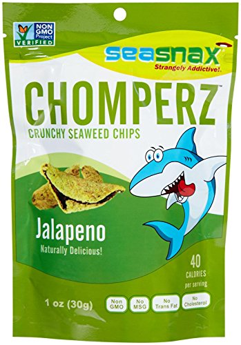 SeaSnax Chomperz Crunchy Seaweed Chips-Jalapeno-1 oz(pack of 2)