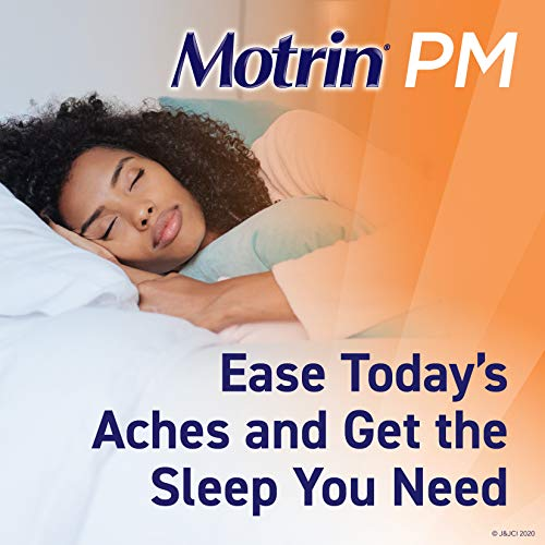Motrin PM Caplets, 200 mg Ibuprofen & 38 mg Sleep Aid, Nighttime Relief for Minor Pains, 80 ct.