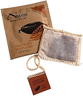 Nspire by Numi Organic Tea Chocolate Silk Pu-erh, 50 Count Box of Tea Bags, Black Tea (Packaging May Vary)