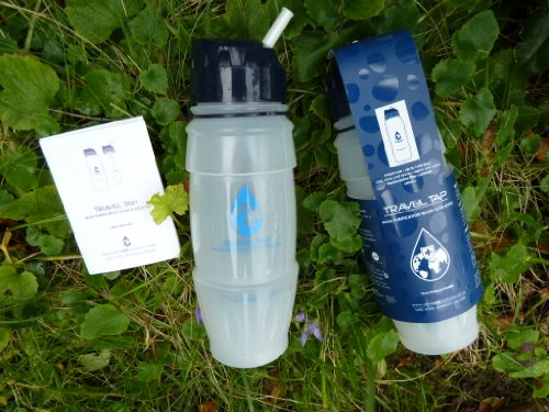 NEW 2016 Travel Tap 'Flip Spout ' 800ml pure water filter bottle - 1600 litres by drinksafe-systems