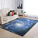 Tobgreatey Area Rugs Alfombra azul estrellas galaxia decoración...