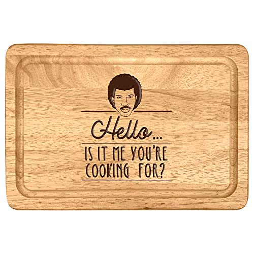 'Hello, is It Me You're Cooking for?' Chopping Board - Funny Novelty Birthday Christmas Gift for Music Fan - Engraved Cooking Kitchen Present