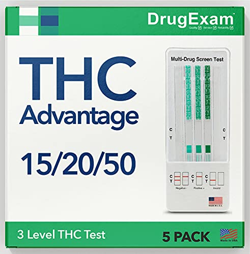 5 Pack - DrugExam THC Advantage Made in USA Multi Level...