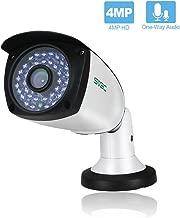 SV3C 4 Megapixels POE IP Camera Outdoor/Indoor One-Way Audio, 75-115FT Night Light Video ONVIF H.265 Surveillance Home IP Security Camera, Waterproof Outdoor Motion Camera