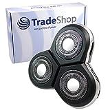 Trade-Shop Cabezal de repuesto para afeitadora Philips Arcitec RQ1051 RQ1052 RQ1053 RQ1059 RQ1060 RQ1070 RQ1075 RQ1085 con tapa protectora