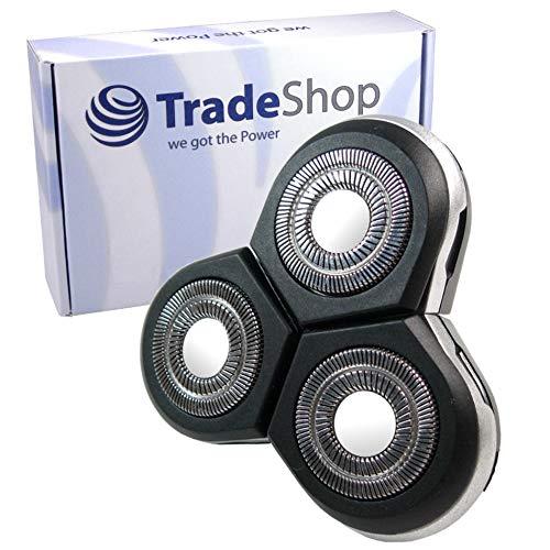 Scherkopf Rasierkopf Ersatzscherkopf mit Schutzkappe Abdeckung für Philips Arcitec RQ1051 RQ1052 RQ1053 RQ1059 RQ1060 RQ1070 RQ1075 RQ1085 RQ1090 RQ1095 SensoTouch 3D RQ1250 RQ1250CC RQ1250X RQ1251